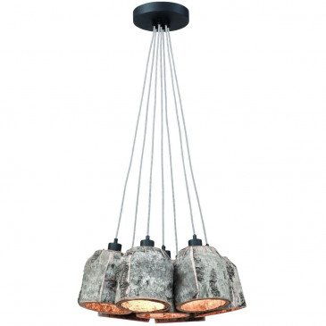Suspension naturelle 7 abat-jours Eagle  | www.cosy-home-design.fr