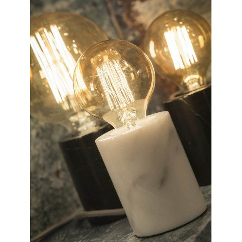 Lampe cylindrique marbre blanc Olympe    www.cosy-home-design.fr