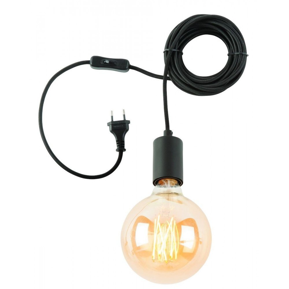Suspension Noire 1 Ampoule Bergen  | www.cosy-home-design.fr