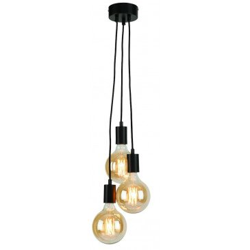 Suspension noire 3 ampoules Bergen  | www.cosy-home-design.fr