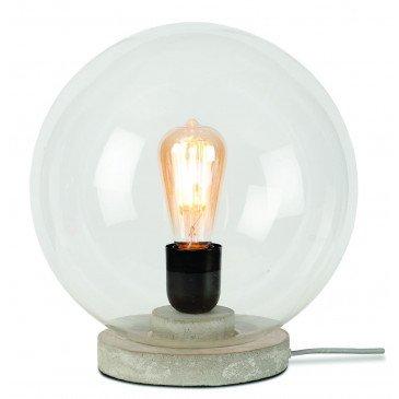 Lampe verre et béton gris Varsovie  | www.cosy-home-design.fr
