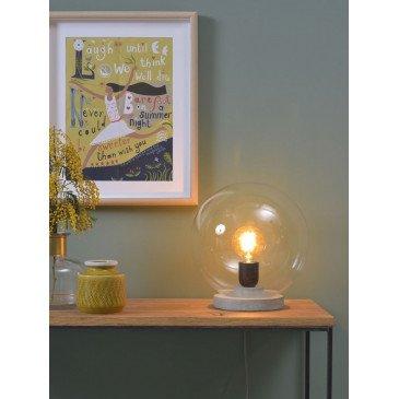 Lampe verre et béton gris Varsovie    www.cosy-home-design.fr