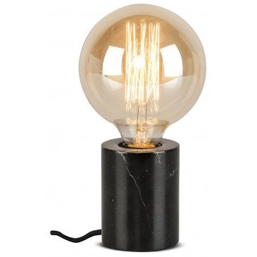 Lampe cylindrique marbre noir Olympe  | www.cosy-home-design.fr