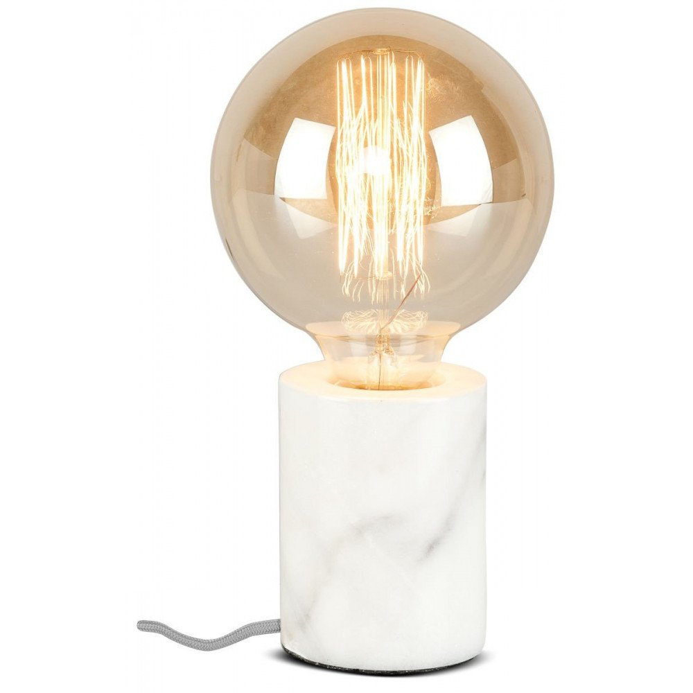 Lampe cylindrique marbre blanc Olympe  | www.cosy-home-design.fr