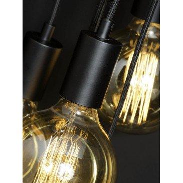 Suspension noire 7 ampoules Bergen  | www.cosy-home-design.fr