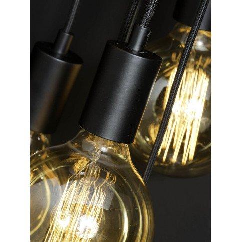 Suspension noire 7 ampoules Bergen    www.cosy-home-design.fr