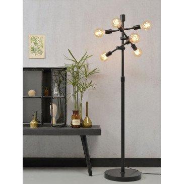 Lampadaire fer noir 6 ampoules Austin  | www.cosy-home-design.fr