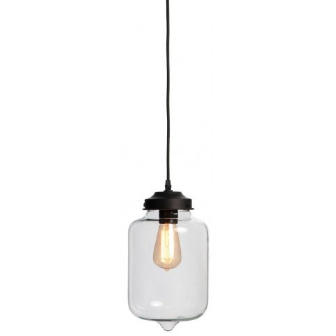 Suspension noire fer et verre Sofia  | www.cosy-home-design.fr