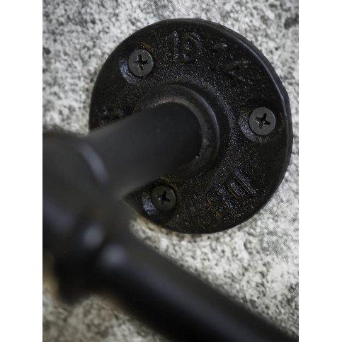 Applique fer noir câble textile Austin   www.cosy-home-design.fr