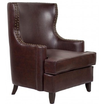 Fauteuil marron cuir Watford  | www.cosy-home-design.fr