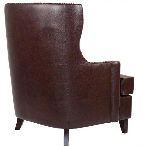 Fauteuil marron cuir Watford  | www.cosy-home-design.fr
