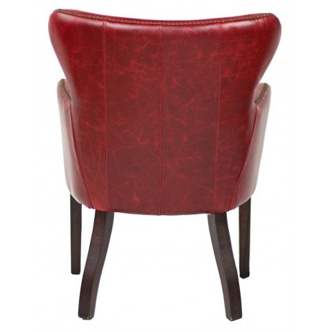 Fauteuil rouge cuir Connor    www.cosy-home-design.fr
