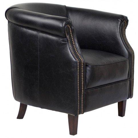 Fauteuil noir cuir Milton  | www.cosy-home-design.fr