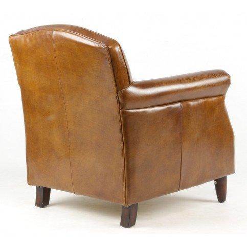 Fauteuil marron cuir Normandie  | www.cosy-home-design.fr