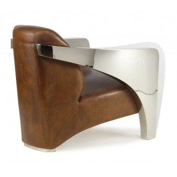 Fauteuil marron cuir Luton  | www.cosy-home-design.fr