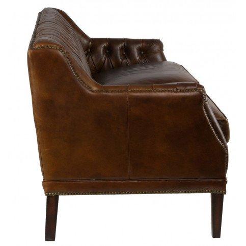 Canapé 3 places marron cuir Le Dandy  | www.cosy-home-design.fr