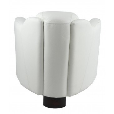 Fauteuil blanc en cuir Milord | www.cosy-home-design.fr
