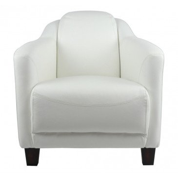 Fauteuil blanc en cuir Milord | www.cosy-home-design.fr