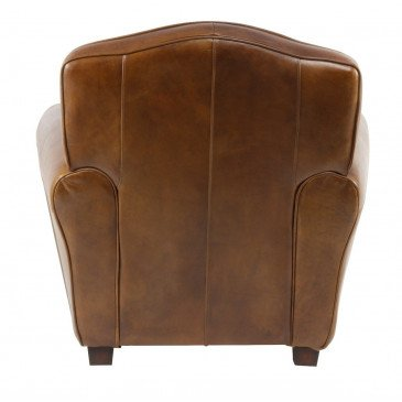 Fauteuil marron cuir Club Edgarton  | www.cosy-home-design.fr
