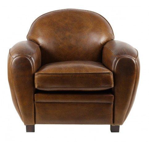 Fauteuil marron cuir Club Rochester    www.cosy-home-design.fr