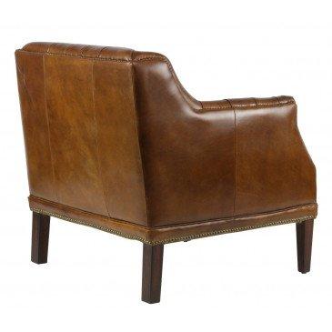 Fauteuil marron en cuir Le Dandy | www.cosy-home-design.fr