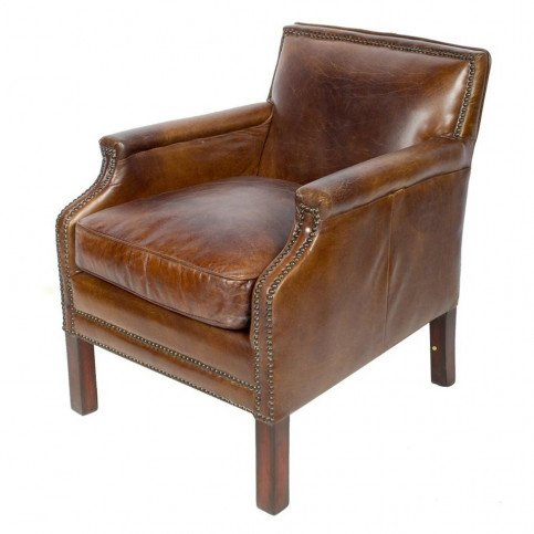 Fauteuil marron cuir Churchill    www.cosy-home-design.fr