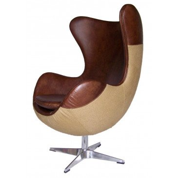 Fauteuil marron cuir Kelly  | www.cosy-home-design.fr
