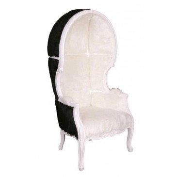 Fauteuil noir et blanc en fourrure Select 2 | www.cosy-home-design.fr