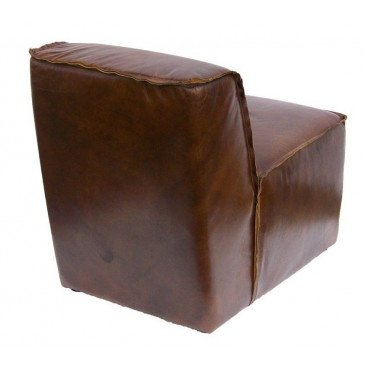 Fauteuil marron cuir Brock  | www.cosy-home-design.fr