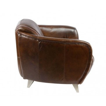 Canapé cuir marron 2 places Racing | www.cosy-home-design.fr