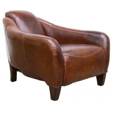 Fauteuil marron cuir Eagle  | www.cosy-home-design.fr