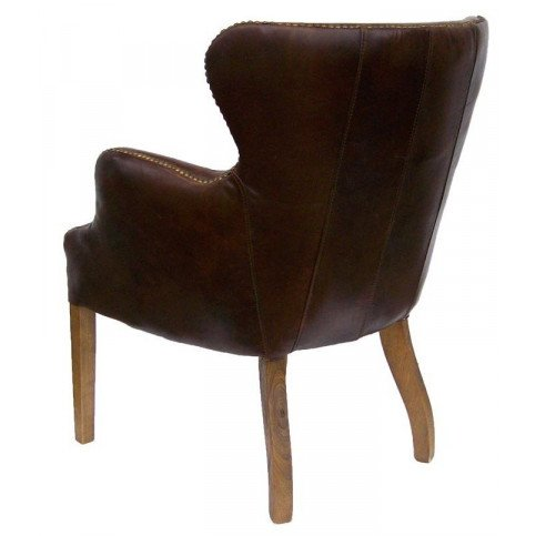 Fauteuil marron cuir Connor  | www.cosy-home-design.fr