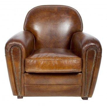 Fauteuil marron cuir Club Liverpool  | www.cosy-home-design.fr