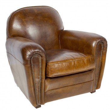 Fauteuil marron cuir Club Liverpool  | www.cosy-home-design.fr