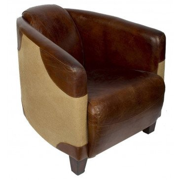 Fauteuil marron cuir Bedford  | www.cosy-home-design.fr