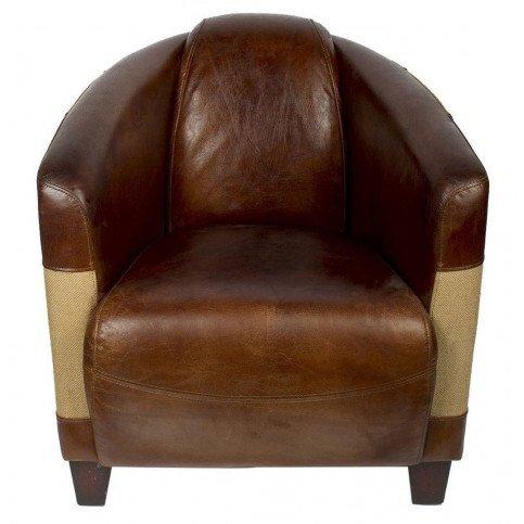 Fauteuil marron cuir Bedford  | www.cosy-home-design.fr