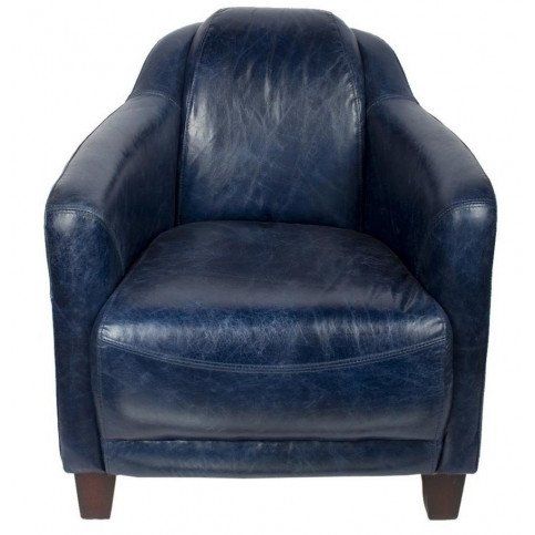 Fauteuil bleu en cuir Milord | www.cosy-home-design.fr
