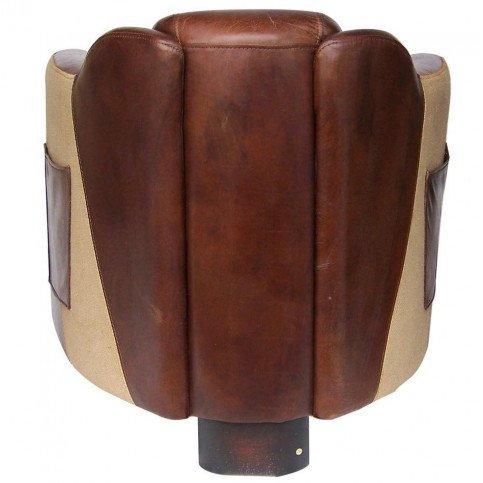 Fauteuil marron cuir avec poche Milord  | www.cosy-home-design.fr