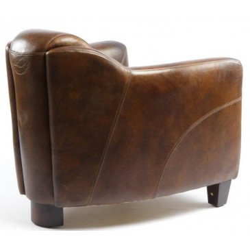 Fauteuil cuir marron Milord | www.cosy-home-design.fr