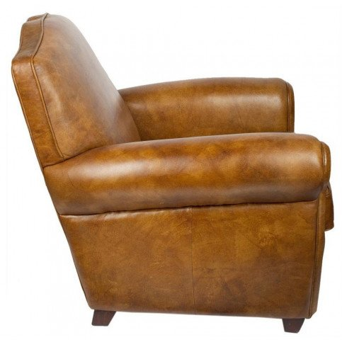 Fauteuil marron cuir Edward  | www.cosy-home-design.fr