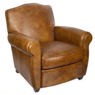 Fauteuil marron cuir Edward  | www.cosy-home-design.fr