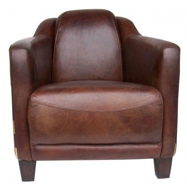 Fauteuil cuir marron James  | www.cosy-home-design.fr