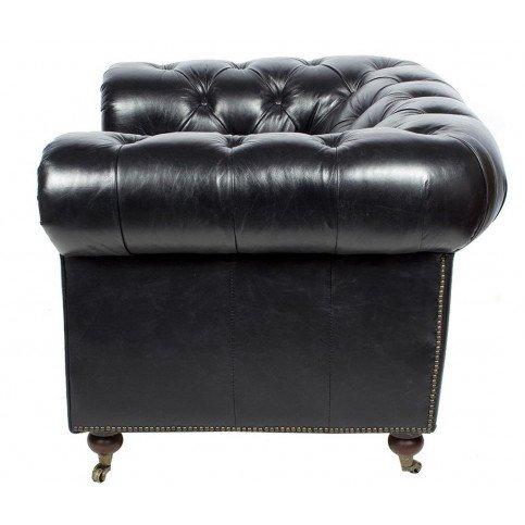 Fauteuil Noir en cuir Chesterfield Chicago | www.cosy-home-design.fr
