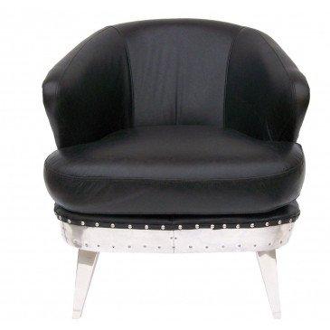 Fauteuil de bureau noir cuir Rocky  | www.cosy-home-design.fr