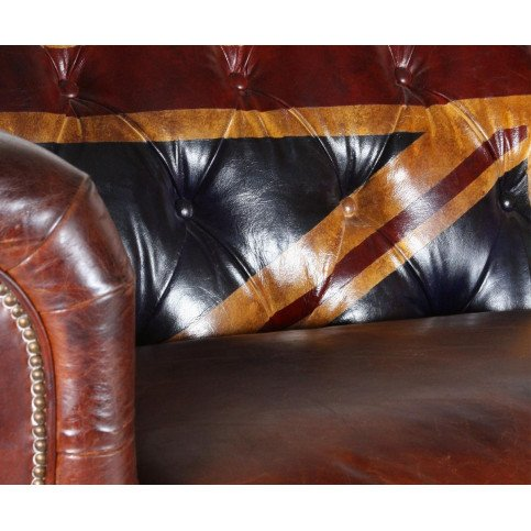 Canapé rouge en cuir 2 places Chesterfield Manchester   www.cosy-home-design.fr
