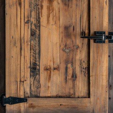 Armoire Industrielle en Bois Style Glacière Ancienne Emillen | www.cosy-home-design.fr