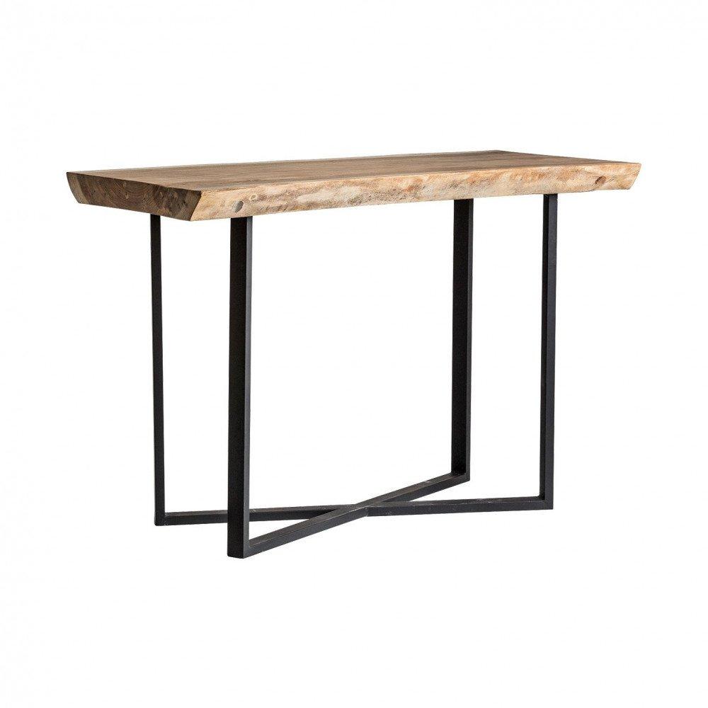 Table de Bar en Bois Naturel Vieilli Style Industriel Tahan | www.cosy-home-design.fr