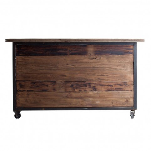 Bar Comptoir en Bois Massif Style Industriel Virginia | www.cosy-home-design.fr