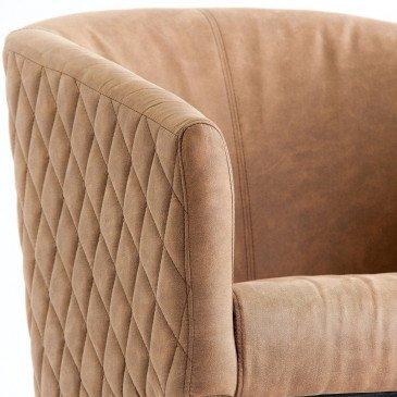 Fauteuil marron matelassé Divaan | www.cosy-home-design.fr