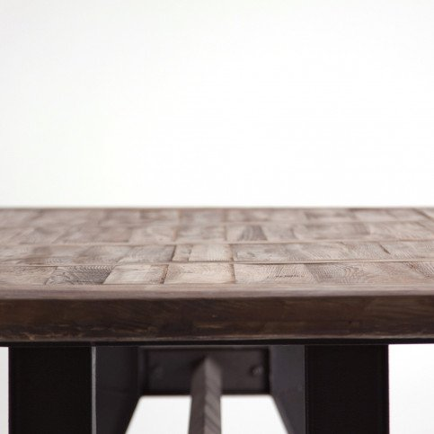 Table Métal et Bois Style Industriel Pinsk 280 | www.cosy-home-design.fr